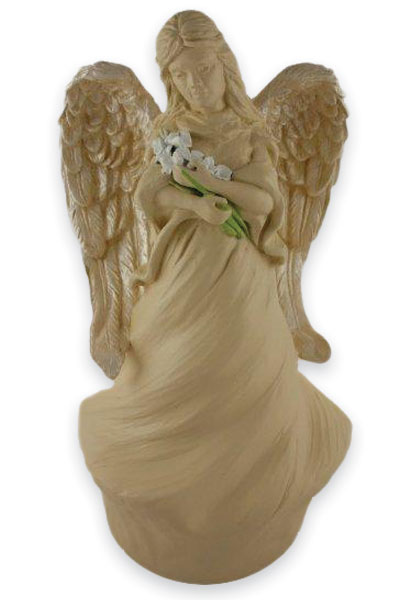 A custom cremation urn: the angel
