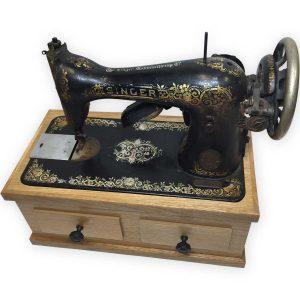 Custom sewing machine urn
