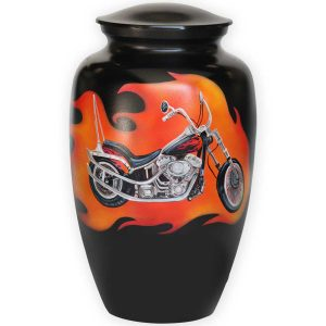 Hand Painted Motorcycle Urn
