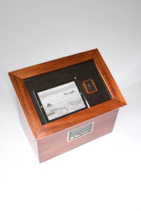 Custom Urns: A custom shadow box cremation urn