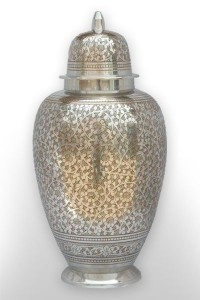 about cremation silver urn