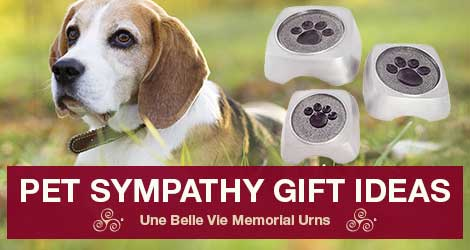 Pet Sympathy Gifts & Tips | Une Belle Vie Memorial Urns