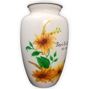 Handpainted Sunflower Urn