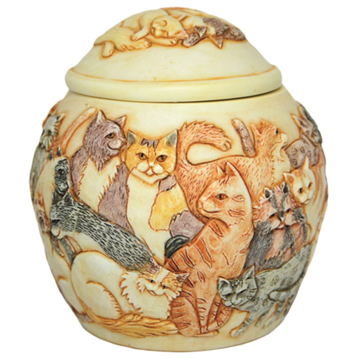 Forever Mine Feline Pet Urn